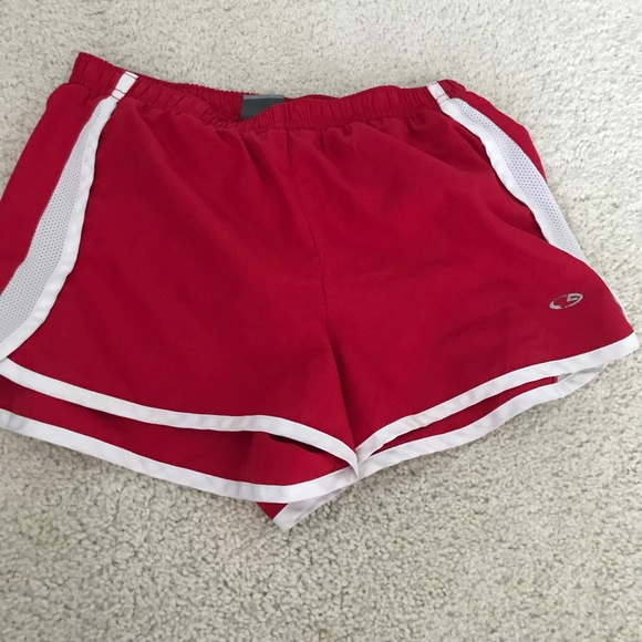 Red/white athletic shorts